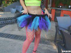 Katrina Jade dresses to dance, gets dick instead