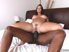 Keisha Grey's big ass takes a big cock