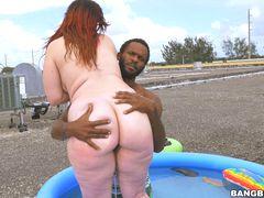 Big asses make beach blast better