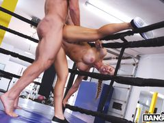 Creampie During A Hard Work Out