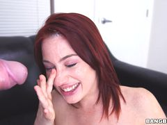 Fiery Red Head is Eager to Please