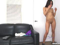 Sexy brunette's amazing body