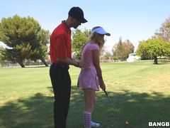 Karla Kush sucks dick and at playing golf