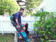 Horny Priya Price Fucks The Gardener