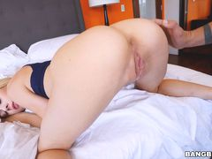 Elsa Jean begs her stepdad for good sex