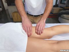Nina North gets rubbed on all her sore spots
