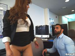 Tiffany finally gets fucked in her office