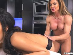 MILF shares her husbands cock with the maid