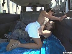 Selena Santana brings all the boys to the bus