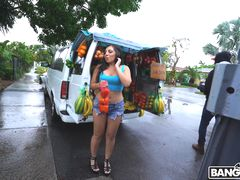 Picking Up The Fruit Lady