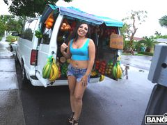Picking Up The Fruit Lady