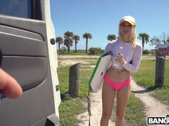 Hot Surfer Gets Railed on The Bus