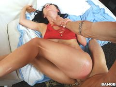 Crystal Rae gets some help and big cock.