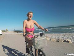 Busty Katrina On Wheels