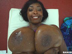 Ebony beauty Rachel and her 30 JJ tits