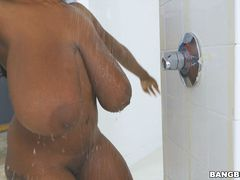 Big Black Tits Fucked In The Shower