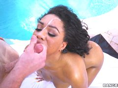 Busty Katt Garcia breaks in a new cock