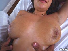 Massaging Big Tits