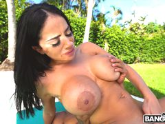 Poolside Games with Busty Victoria