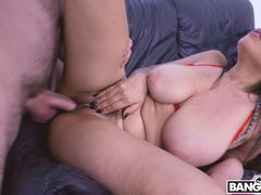 Using My Big Tits To Get His Dick