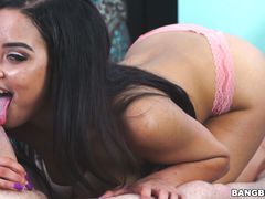 Maya Bijou plays greatly with the cock