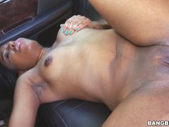 Horny Student Gets Fucked In Car Outside University