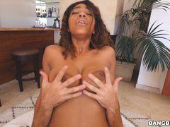 Ebony With Triple D Tits Gets Railed
