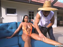 Katt Garcia fucks by the pool