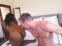 Amilian Kush sucks two cocks and gets fucked for a good orgasm