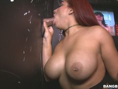 Thick Latina Deep Throats In The Gloryhole