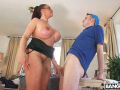 Big Tit Step-Mom Gets a Massage