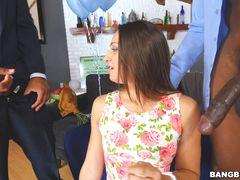 Sara Luvv Takes On 2 Monster Cocks