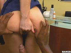 Freaky white daughter can't resist black cock