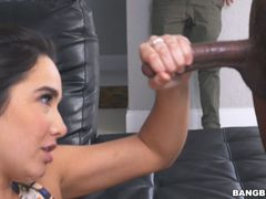 Karlee Grey makes her boyfriend tough by fucking a black guy