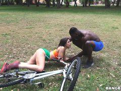 Abella Takes a Huge Black Dick