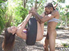 Kalina Ryu Takes on a Monster Cock