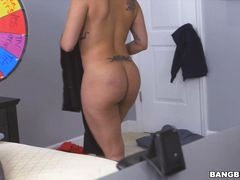 Cleaning lady and a webcam model on my dick