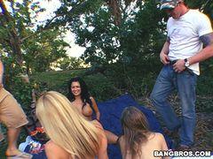 Sunny Lane, Eva Angelina and Holly Morgan in Bare Back ASS