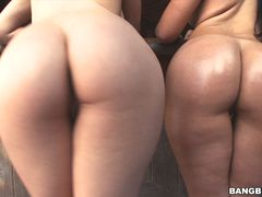 Sophia Summer and Bailey get sweaty as they show off their Amazing Asses
